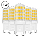 LE Bombillas LED, G9 5W Equivale 50W Halógena, Blanco Cálido 340lm, Pack de 5