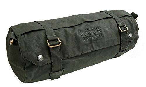 Kakadu Traders Australia Wachs Gepäck-Rolle für Motorrad oder Pferd Bikertasche Satteltasche aus gewachster Baumwolle wasserabweisend und atmungsaktiv
