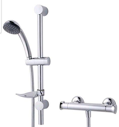 Generic.... Mixer BA Ventil-Set Fledermaus Bar Dusche Mischer R Wanne chrom Effekt Thermostat ect Thermo Bade-Einhebelmischer - Wanne Set Chrom