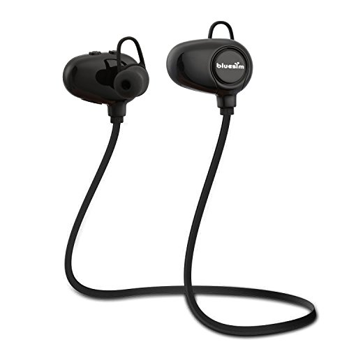 Sport Bluetooth Kopfhörer, Bluesim Bluetooth Kopfhörer 4.0 kabellosen Kopfhörer Stereo In Ear Ohrhörer mit Mikrofon für iPhone Samsung Galaxy IOS & Android Smartphones iPad Laptops Tablet