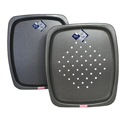 Shaped Baking / Oven Trays 14 Inch x 12 inch (36cm x 32cm), British Made with GlideX ®™ Non Stick by Lets Cook