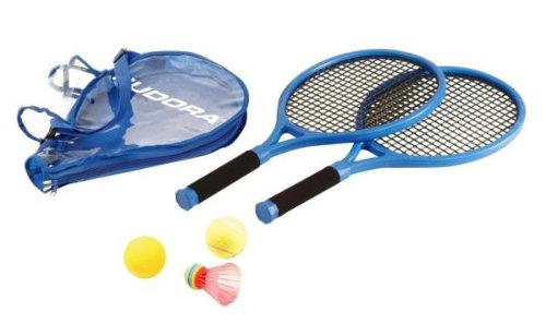 Schläger Junior Tennis (Hudora Tennisset Junior, 2 Schläger, 3 verschiedene Bälle)