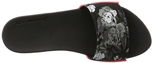 Rider 82135-00, Ciabatte Donna Multicolore (grey/black/pink)