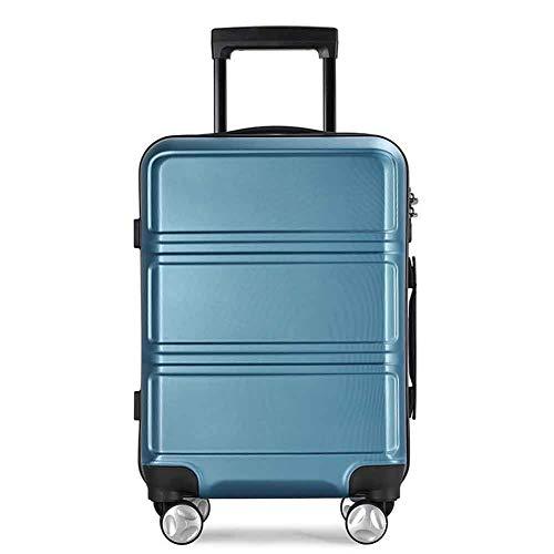 THWJSH 20 \Reisekoffer Trolley Gepäck Flug Boarding Passwort Sperre Boxor Männer und Frauen kratzfest tragen Koffer-blue-24inches -