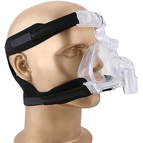 Mcoplus NM-01 silicone del grado medico di assistenza sanitaria e plastica CPAP maschera nasale con copricapo per apnea del sonno