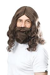 Idea Regalo - Bristol novità BW581hippy Gesù parrucca e barba, colore: marrone, taglia unica