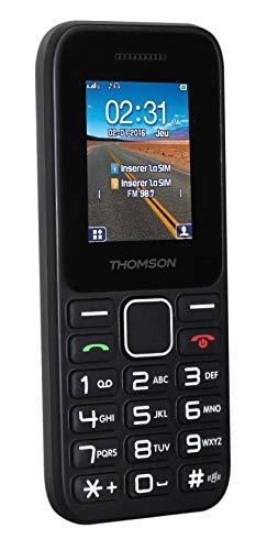 THOMSON T-Link 11 MÓVIL Libre, Pantalla de 1.77' 128x160, 2G, SIM Dual, Bluetooth, batería 600mAh, Negro