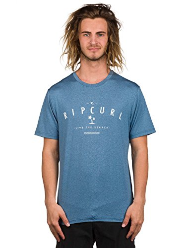 Rip Curl Surf Tees - Rip Curl Search Series Short Sleeve Surf Tee - Rouge Red Blue