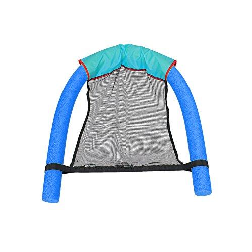 XMDZ Chaise Flottante d'eau Siège Piscine en Mousse Aide à Flottaison avec Accoudoir et Dossier pour Adultes Enfants Bleu