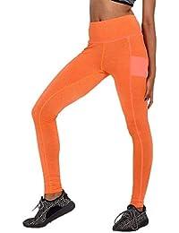 BIRAN-5 Leggings De Mujer Cintura Alta Estiramiento Entrenamiento Único  Delgado Pantalones Correr Deporte Pantalones c572c9f4d69f