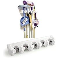 Fregona Escoba soporte para cepillo de almacenamiento organizador estante de pared