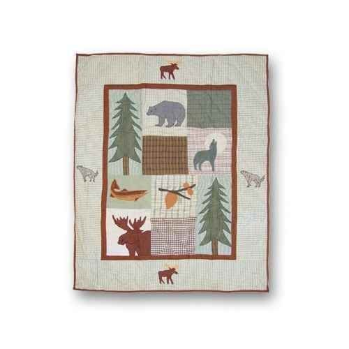 Patch Magic 36-Inch by 46-Inch Mountain Whispers Quilt Crib by Patch Magic Mountain Whispers Quilt