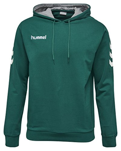 Hummel Core Cotton Hoodie - 6140, verde - evergreen, M
