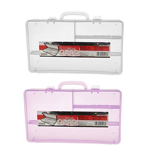 MagiDeal Boîte de Rangement à 4 Compartiment Vide Organisateur Conteneur Nail Art
