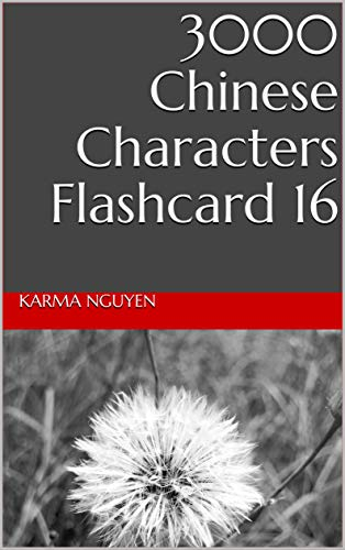 3000 Chinese Characters Flashcard 16 (English Edition)