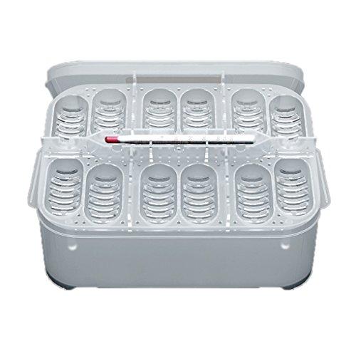 Magideal scatola di incubazione cm rettile uovo contenitore di plastica cova con 12 uovo foro - #2