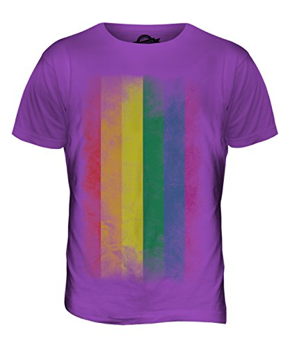 Gay Pride Verblichen Flag - Herren T-Shirt T-shirt Top - Schwarze Johannisbeere, Herren, XX-Large