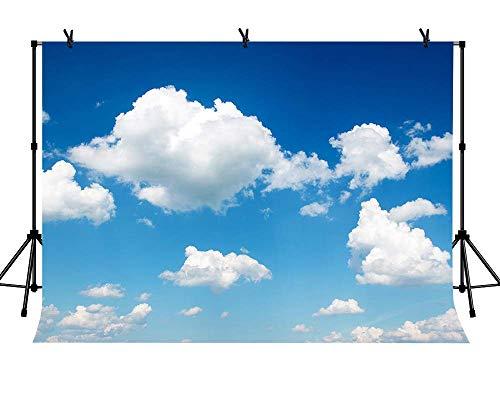 EdCott 7x5ft Fondo de Cielo con Nubes Blancas Fondos de Tela para fotografía...