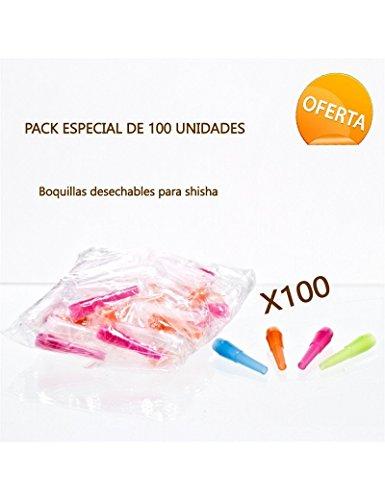 FumandoEspero Pack de 100 Boquillas de Plástico para Shisha o Cachimba