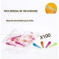 Pack de 100 Boquillas de Plástico para Shisha o Cachimba