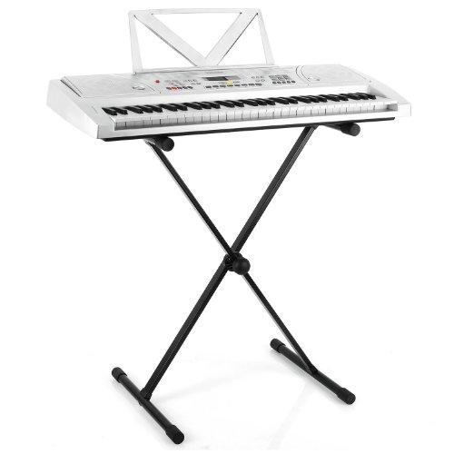 Malone Dimantale LTS4-ST-7-DKS Support en X pour clavier (synthé, piano numérique (stable, hauteur réglable, robuste) - métal no