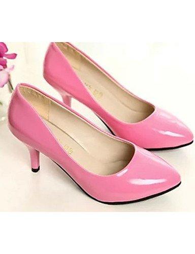 GS~LY Damen-High Heels-Lässig-PU-Stöckelabsatz-Absätze-Schwarz / Rosa / Rot / Weiß / Fuchsie pink-us7.5 / eu38 / uk5.5 / cn38
