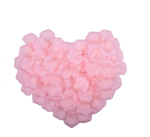 Demarkt 1000 Stück Rosa Rosenblüten Rosenblätter Blumenblätter aus Seide Kunstblumen für Hochzeit Feier Deko Valentinstag romatische Überraschung Taufe Kommunion Konfirmation (Rosa)