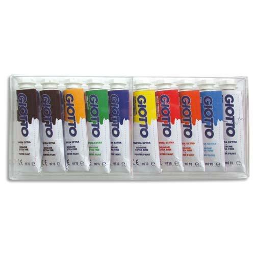 Giotto 301900 Boite de 10 Tubes de gouache 10 ml Assortis 0793518543908
