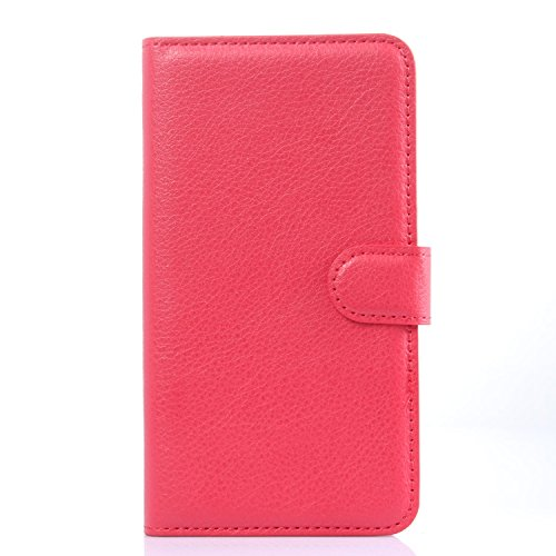 Tasche für Meizu MX4 Pro (5.5zoll) Hülle, Ycloud PU Ledertasche Flip Cover Wallet Case Handyhülle mit Stand Function Credit Card Slots Bookstyle Purse Design rote