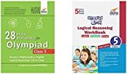 28 Mock Test Series for Olympiads Class 5 Science, Mathematics, Englis&Olympiad Champs Logical Reasoning W