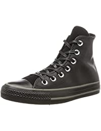 converse all star cuir noir