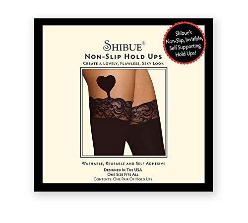 b22d376df273 Shibue Calze a Rete Autoreggenti Nero, One Size (Taglia Produttore:Unica)  Donna