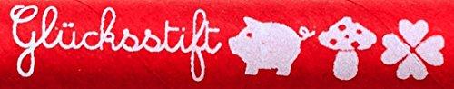 Ringelsuse Roter Glücksstift/Kugelschreiber mit Blauer Schriftfarbe