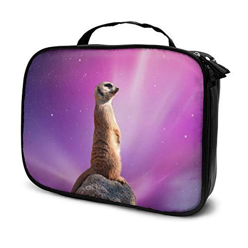 Erdmännchen Raum (2) Leinwand Make-up Bag Pouch Handtasche Handtasche Organizer mit Reißverschluss