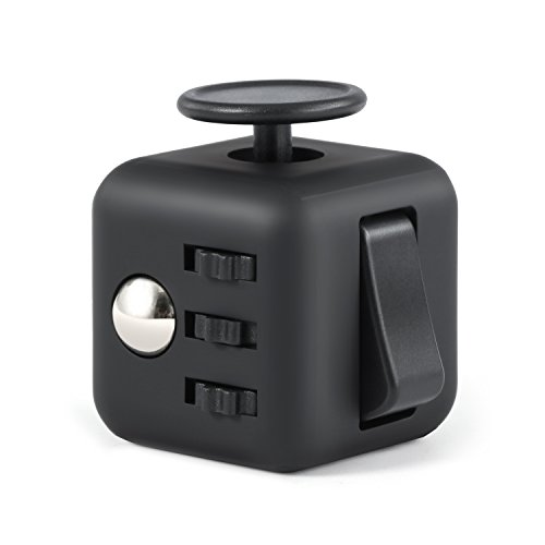 Focus Cube, Magicfly Fidget Cube For Anxiety Stress Relief Attention Focus Cube Toy For Children / Adult Gift ADHD, All Black