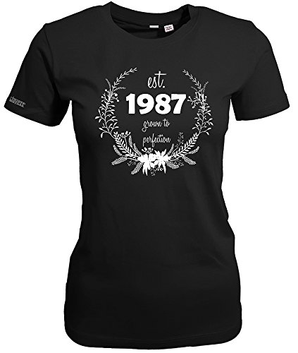 1987 GROWN TO PERFECTION - WOMEN T-SHIRT Schwarz