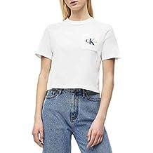 Calvin Klein Camiseta Crop Pocket Blanco Mujer