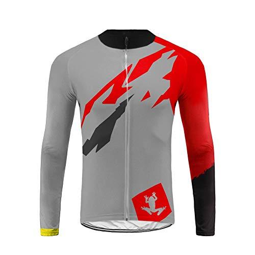 Uglyfrog #02 Maglia da Uomo a Manica Lunga per Ciclismo Maglia da Corsa Abbigliamento Casual Camicie Quick Dry Camicie Inverno Warm Cappotto