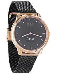 X-WATCH Cleo XW Connect | Hybrid Smartwatch für Damen – Elegante, runde Damenuhr mit Schrittzähler – Aktivitätstracker Rosegold schwarz