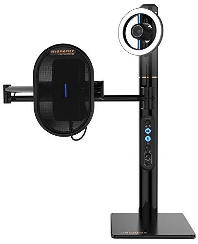 Marantz Professional Turret - Komplettes USB-C Broadcast Video System mit Full HD Webcam, USB-Kondensatormikrofon (48kHz/16-bit) mit Pop-Filter, dimmbarem LED-Lichtring und internem USB-Hub