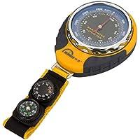 Fly Wasserdichte Tragbare Barometrische Höhenmesser Mit Kompass - Mit Thermometer Barometer Lanyard Rea, Zum Wandern, Camping, Bergsteigen, Abenteuer