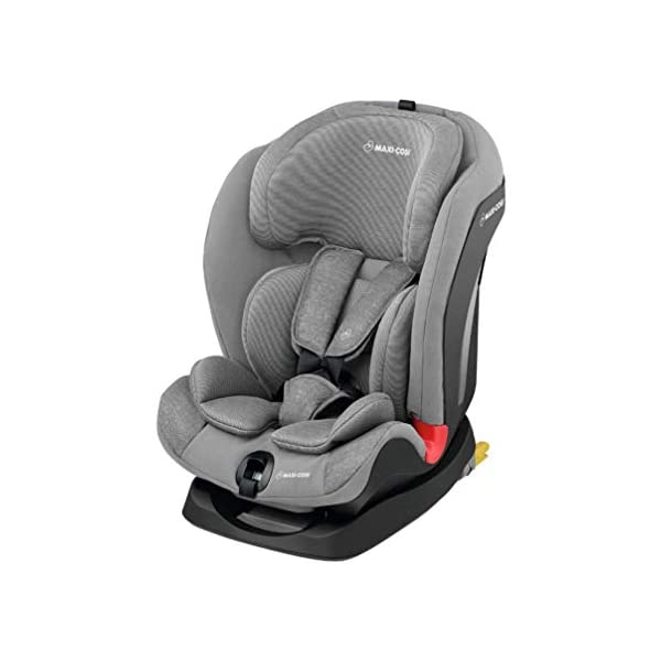 Maxi-Cosi Titan Toddler/Child Car Seat Group 1-2-3, Convertible, Reclining ISOFIX Car Seat, 9 m - 12 y, Nomad Grey Maxi-Cosi A multi-stage car seat suitable for babies, toddlers and children from 9 months to 12 years (approx. 9 - 36 kg) Easy adjustable and smooth headrest of this reclining car seat grows along in 11 steps to provide comfort for your little one Solid ISOFIX installation with top tether offers high stability for this convertible car seat 1