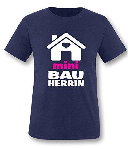 Luckja Mini Bauherrin Kinder T-Shirt Navy-Weiss/Neonpink Grösse 86/92 (Salz Des Lebens T-shirt)
