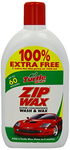 Turtle Wax Zipwax Wash and Wax 500ml Plus 100 Percent Free