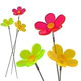 Sonnenfänger Blumenstecker 3er Set Lichtfänger Blume Deko Material Blume: fluoreszierendes