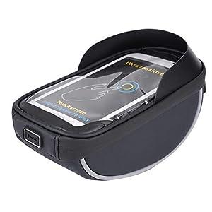 41dudY0ktAL. SS300 Dilwe Sacchetto Anteriore del Telefono della Bicicletta, Borsa Superiore Impermeabile del Telefono della Struttura del…