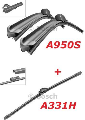 Preisvergleich Produktbild Bosch Scheibenwischer Front.- und Heckwischer - Aerotwin A950S Längen: 700 / 700mm (3397118950) & A331H Länge: 330mm (3397008713)