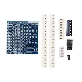 Heaviesk Azul Durable 5 V SMT SMD Junta de Práctica de Soldadura de Componentes Práctica de Soldadura DIY Kit Mejor US57 5 * 4.8 cm