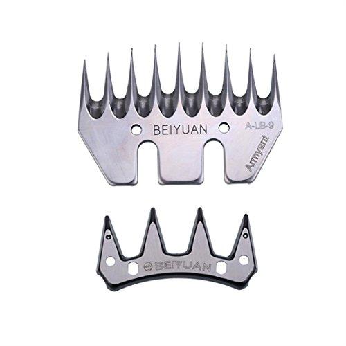 KEHUASHINA 9 Zähne Edelstahl Stärke Gerade Klinge für Vieh Schaf Ziege Clipper, Ersatzmesser für Schafschermaschine Schermesser Messer Schaf Schermaschine