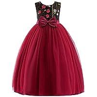 KOKQSX-Vestidos de niña Vestidos Vestidos de Boda de la Muchacha de Flor de Gourl 110cm